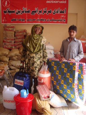 Faqiran Mai 59 with her grandson Hamid 14