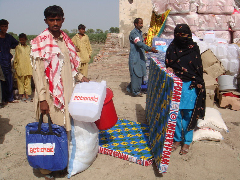Relief items distribution by ActionAid