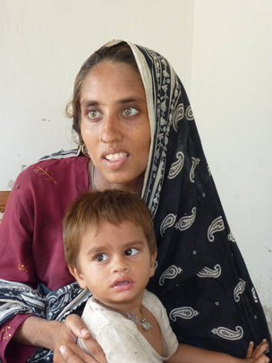 Photo: ActionAid. Saeed Bibi and her son