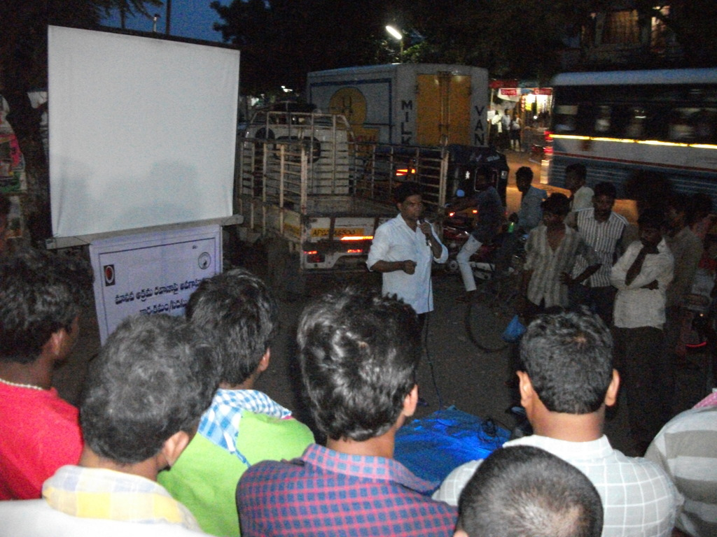 Gathering the Public near a bus station!