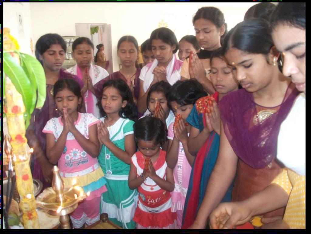 Children Celebrating Dussehra Ayudha Puja