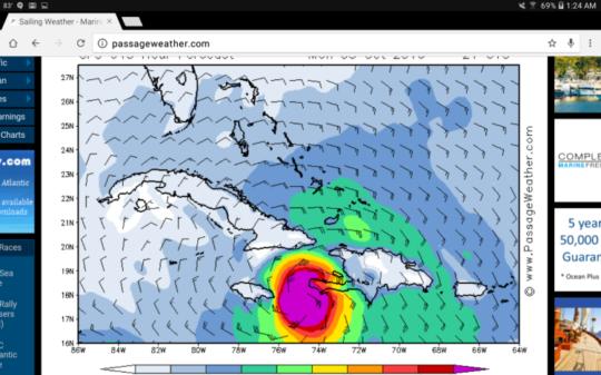 Hurricane Matthew headed to Fond des Blancs, Haiti