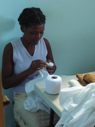 Working at the Haiti Projects Women's Cooperative