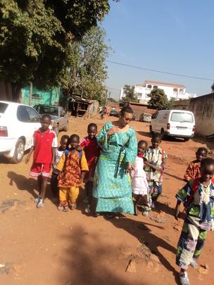 CEO accompanying children to school, Dec 2010