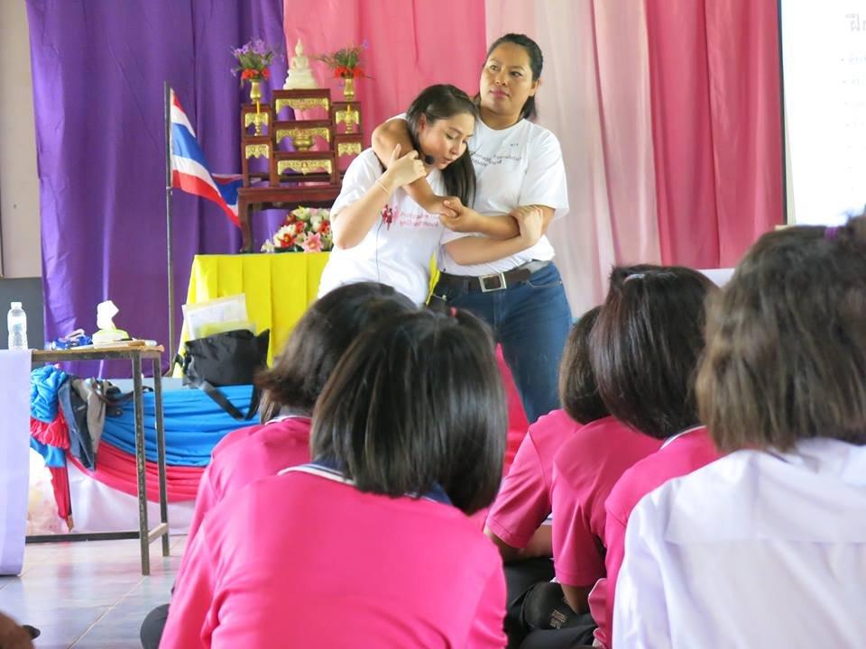 Nang and Poy Demonstrating Self Defense