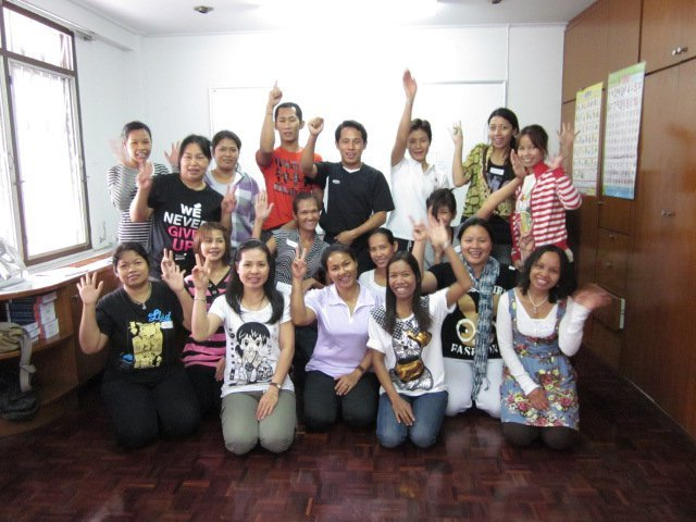 Students after basic self-defence training
