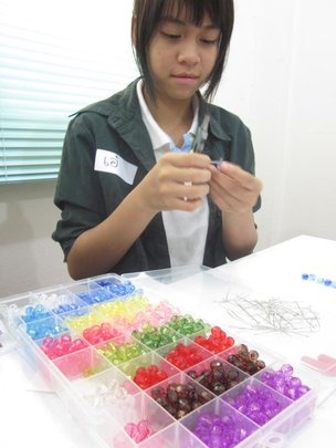 Girl always enjoys Jewelry/Bead Making Workshop.