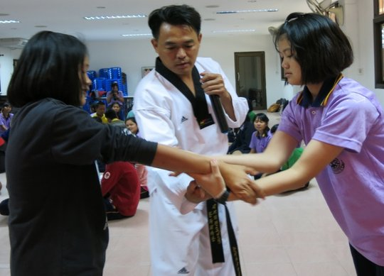 Learning self-defense skills