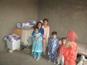 children in new home