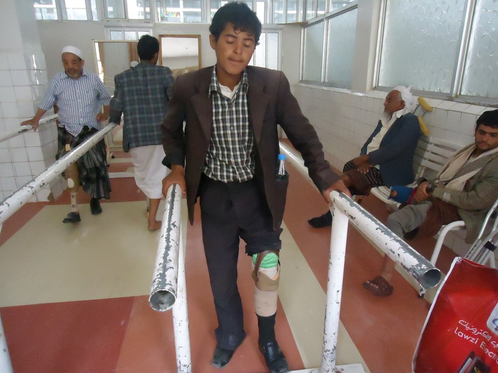 MLI provides prostheses to survivors in Yemen