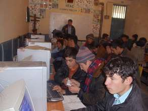 Survivors learning computer skills in Afghanistan