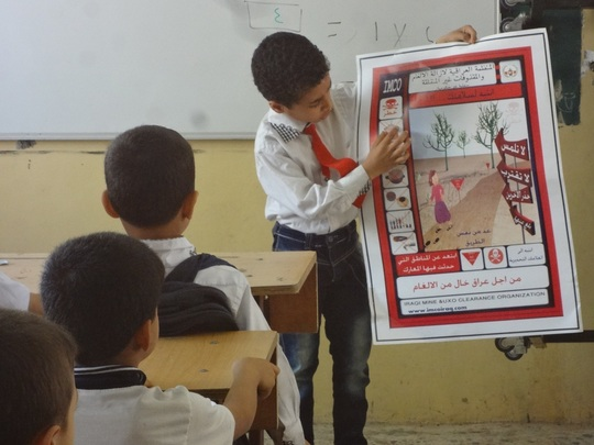 Children in Yemen learn about landmines