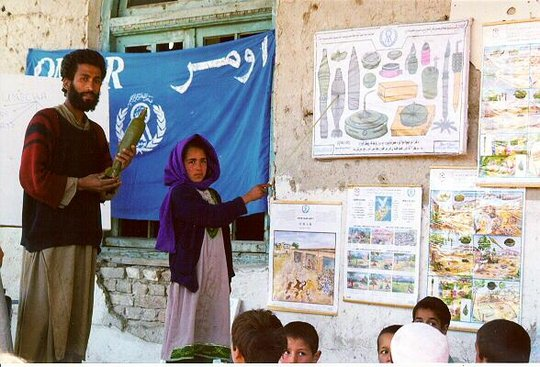 Mine Risk Education classes in Afghanistan