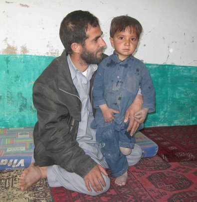 Young boy in Afghanistan