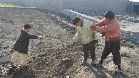 Children find landmine in Afghanistan