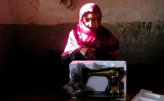 Landmine survivor receives vocational training