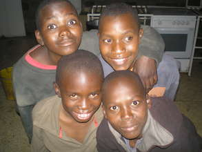 Four of the boys at the Joseph Waweru Home School