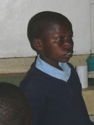 Ndegwa in school uniform