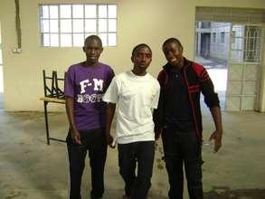 Sami, Langat and Friend at ROHI High School