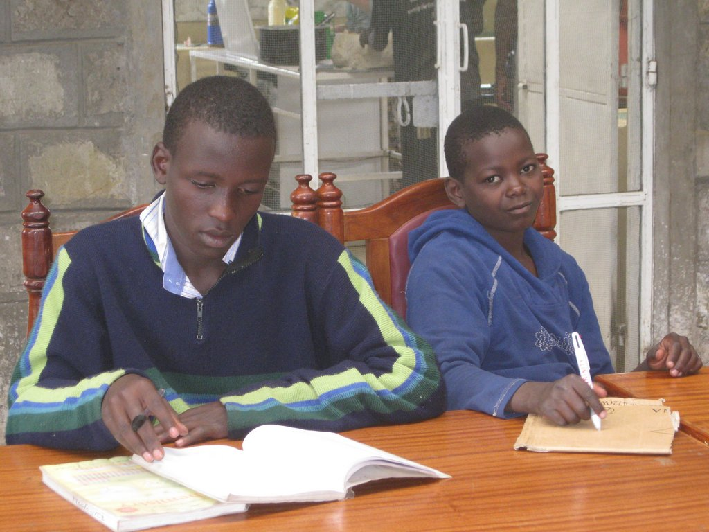 John and Joshua study hard