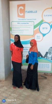Fadiza & Amina joyous 1st day of computer school