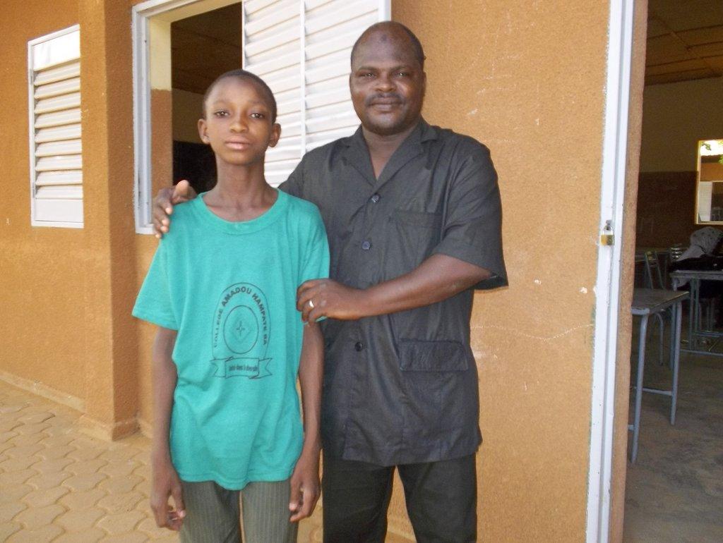 Mr Abdourahmane is very proud of his student