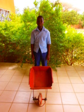 Ibrahim with his wheelbarrow