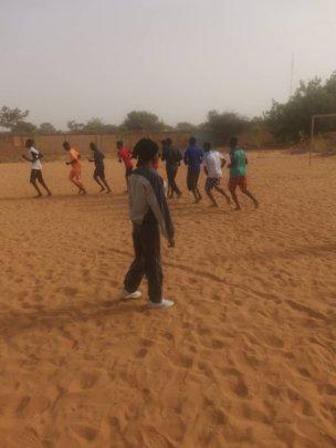 Sports internship, Habiba directing boy students