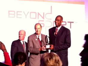 Senator Bill Bradley and Dikembe Mutombo