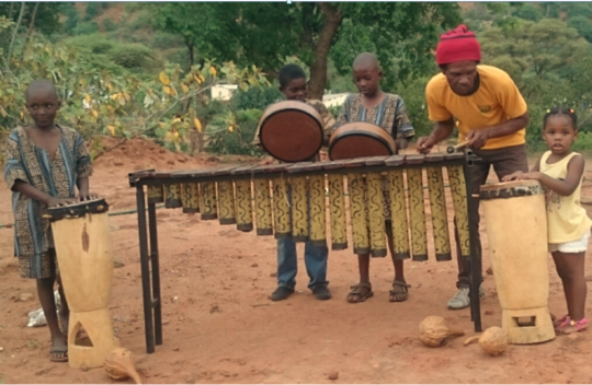 Kids Playing Music Instruments