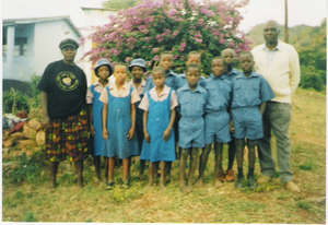 Orphans receive school uniforms