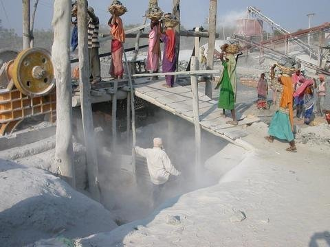 Reducing pollution from stone crushing in India