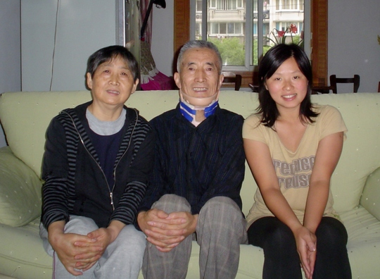 Me, with Mr. and Mrs. Wang