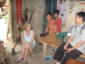 Kay visiting families