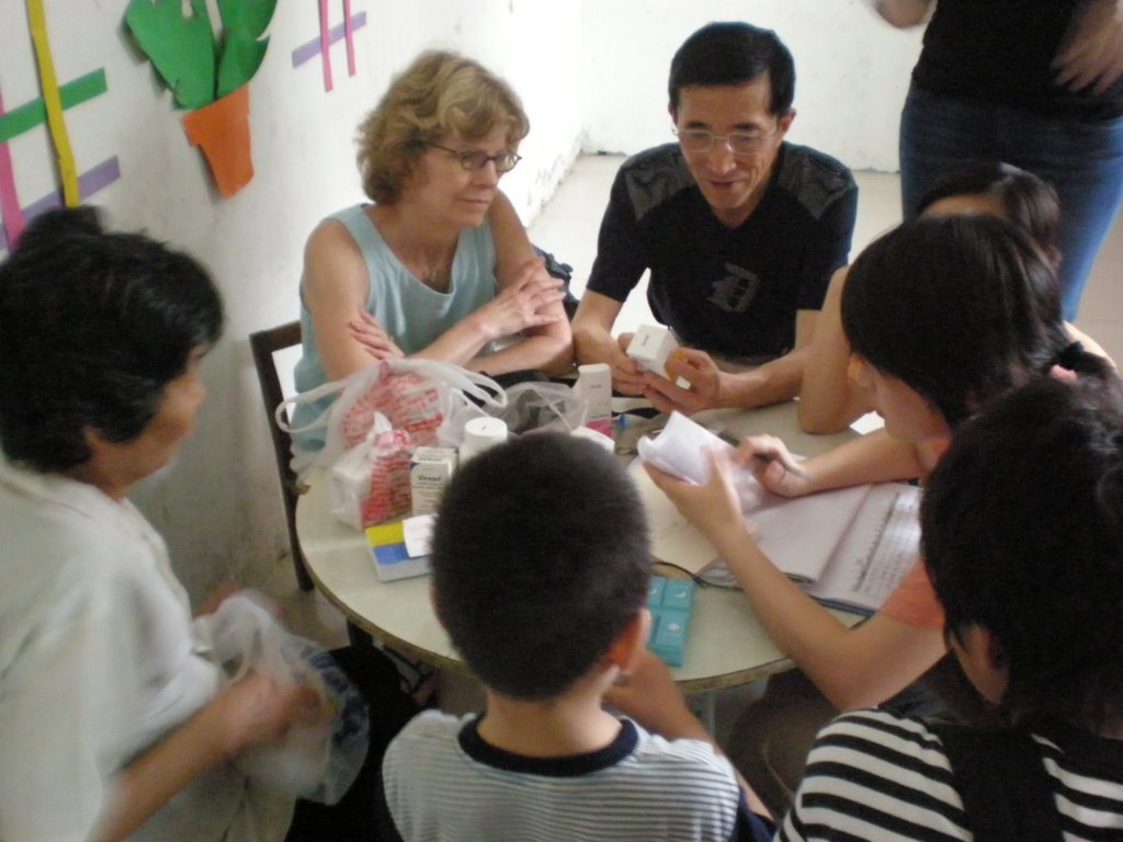 Kay and her collegues in Fuyang