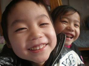 ZiHao (boy) and Yue (girl)