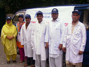 Emergency medical care for flood victims.