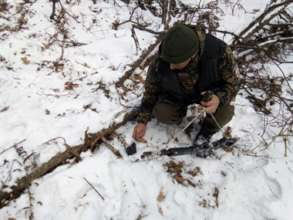 Rifle found in the snow (c) Land of the Leopard