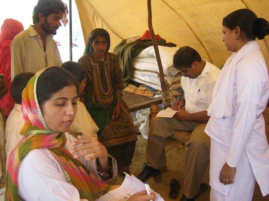 03 doctors & 5 Nurses total 08 medical staff