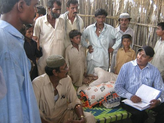 AHD staff during survey of most affected IDPs