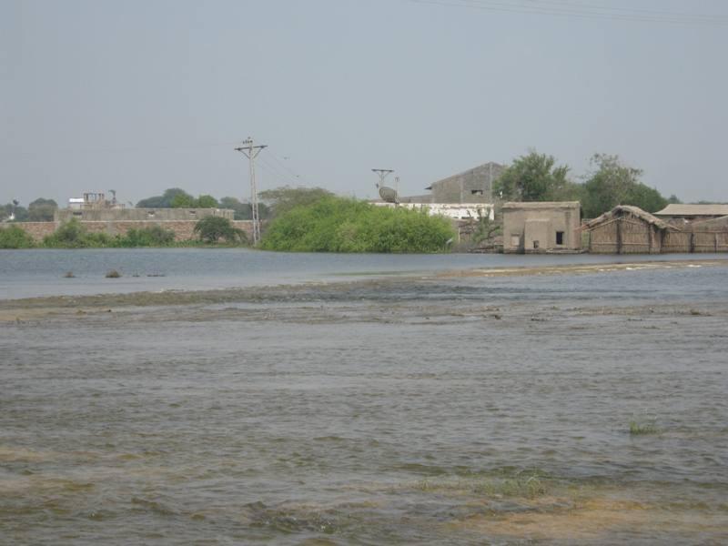 Still large area under flood water