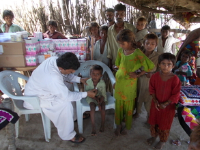 Children treated with medicine by AHD Team