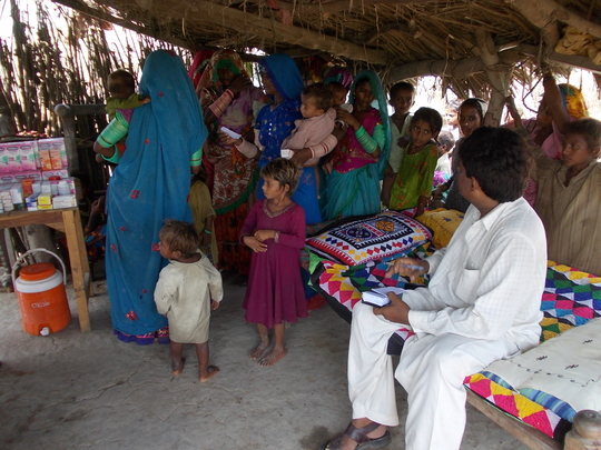 Medical camps for flood victims 2012 Matli