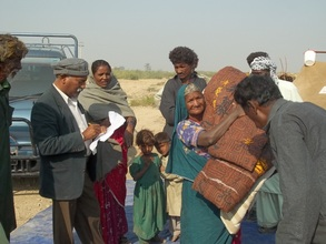 250 families provided with balnkets