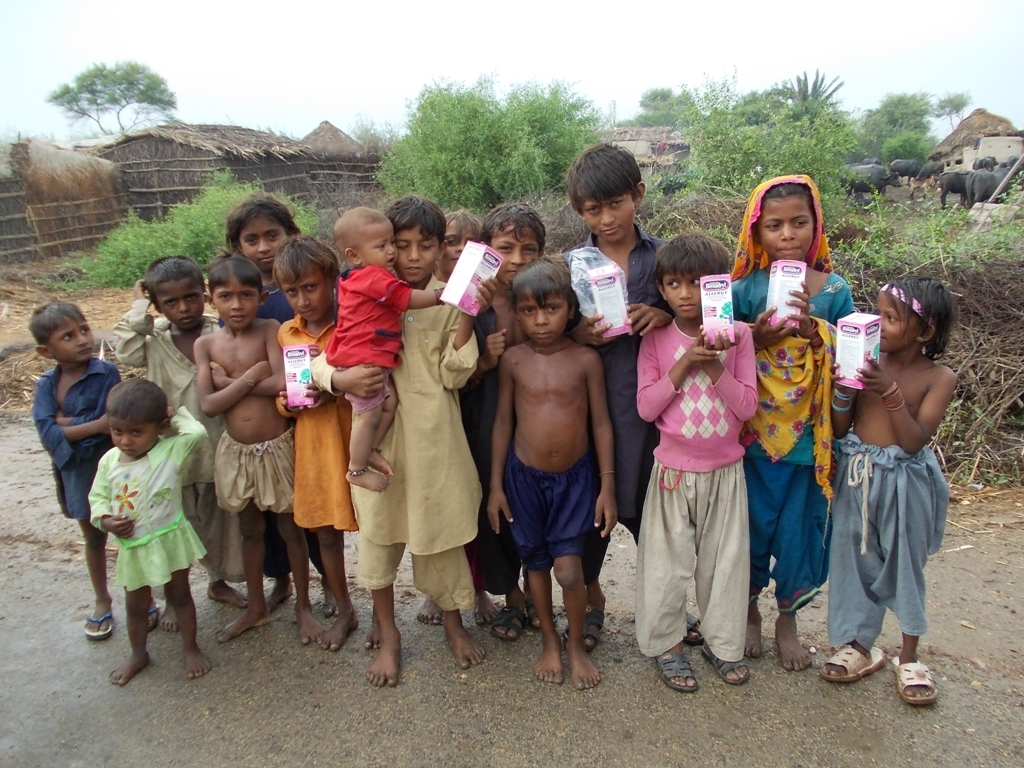 Children affected due to heavy rain 2012