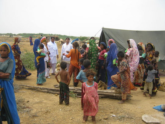 AHD medical team during camp to camp visit IDPs