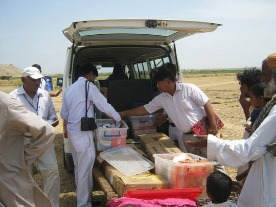 AHD mobile clinic for IDps of Thatta district
