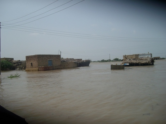 villages in floods water
