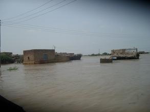 villages in floods water