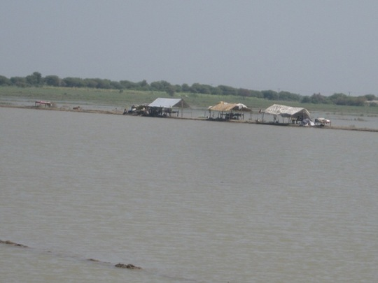 A look of villages under flood water